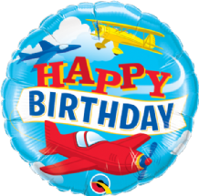 "Birthday Airplanes Foil Balloon (18"") 1pc"
